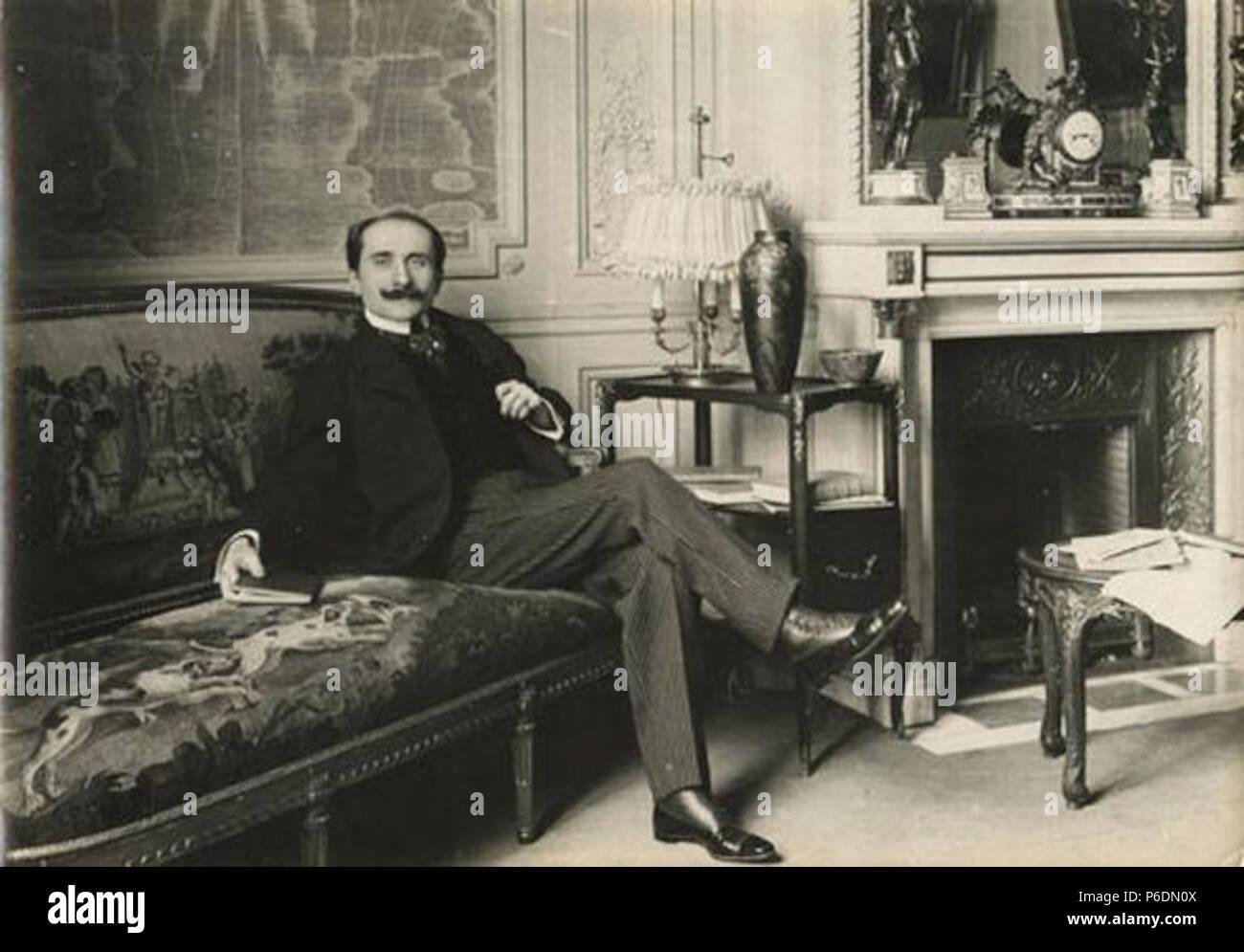 . Edmond Rostand, Auteur Dramatique  1900 66 Paul Marsan, dit Dornac - Edmond Rostand, Auteur Dramatique - Stock Image