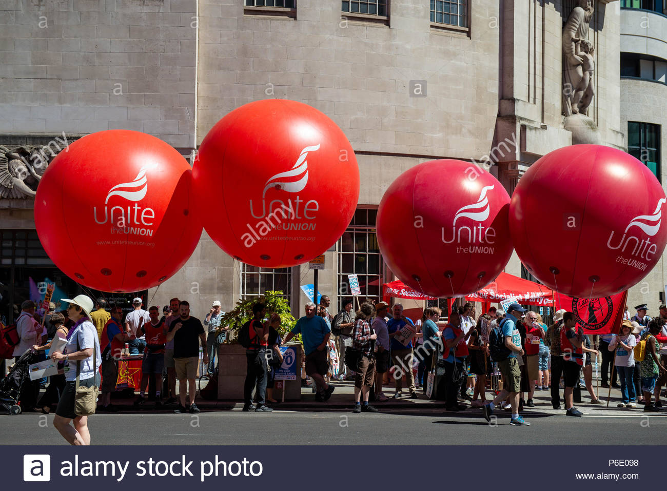 London, Great Britain, 30 Jun 2018 A mixture of celebration and demonstration for the thousands of attendees. Celebrating the 70th Birthday of the NHS, and demonstrating to keep it properly funded and free for everyone.  Credit: David Nash/Alamy Live News - Stock Image