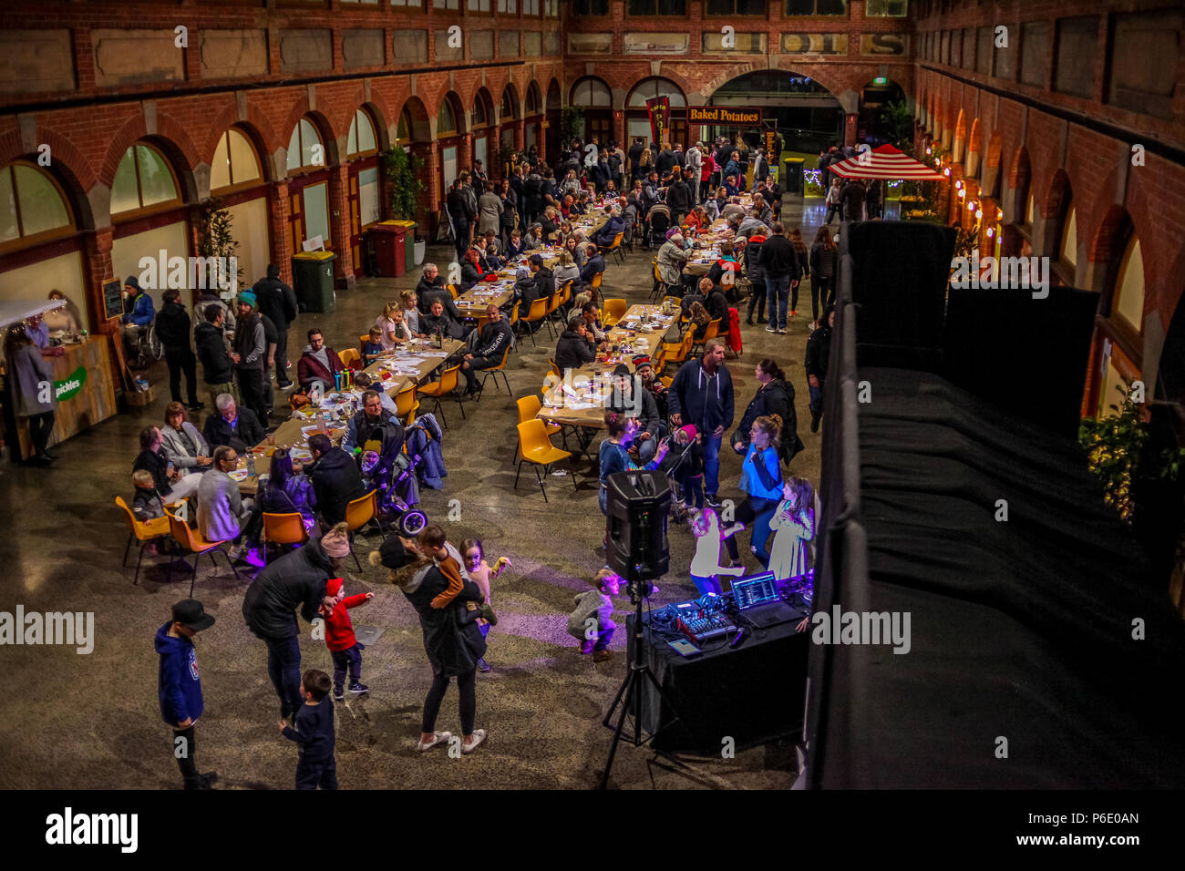 Ballerat, Victoria, Australia, 30 June 2018. Ballarat Potato Festival - 30 June 2018 - Ballarat,Victoria,Australia.Showcasing the versatility of the spud, the Potato Festival will stimulate all your senses and go beyond just fries or potato salad. Think gnocchi, the classic baked potato and more. Experience the potato in a variety of dishes and forms and watch as the produce of the region is put under the spotlight. Credit: brett keating/Alamy Live News - Stock Image