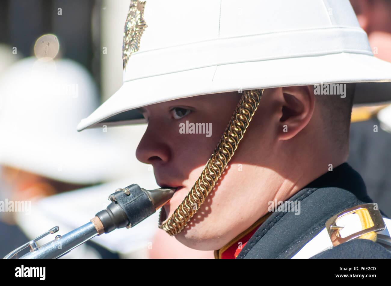 Glasgow, Scotland, UK. 30th June, 2018. Armed Forces Day. A parade through the city centre from Holland Street to George Square is led by the Royal Marine Band and includes serving military, cadets, youth organisations and veteran associations. Credit: Skully/Alamy Live News - Stock Image