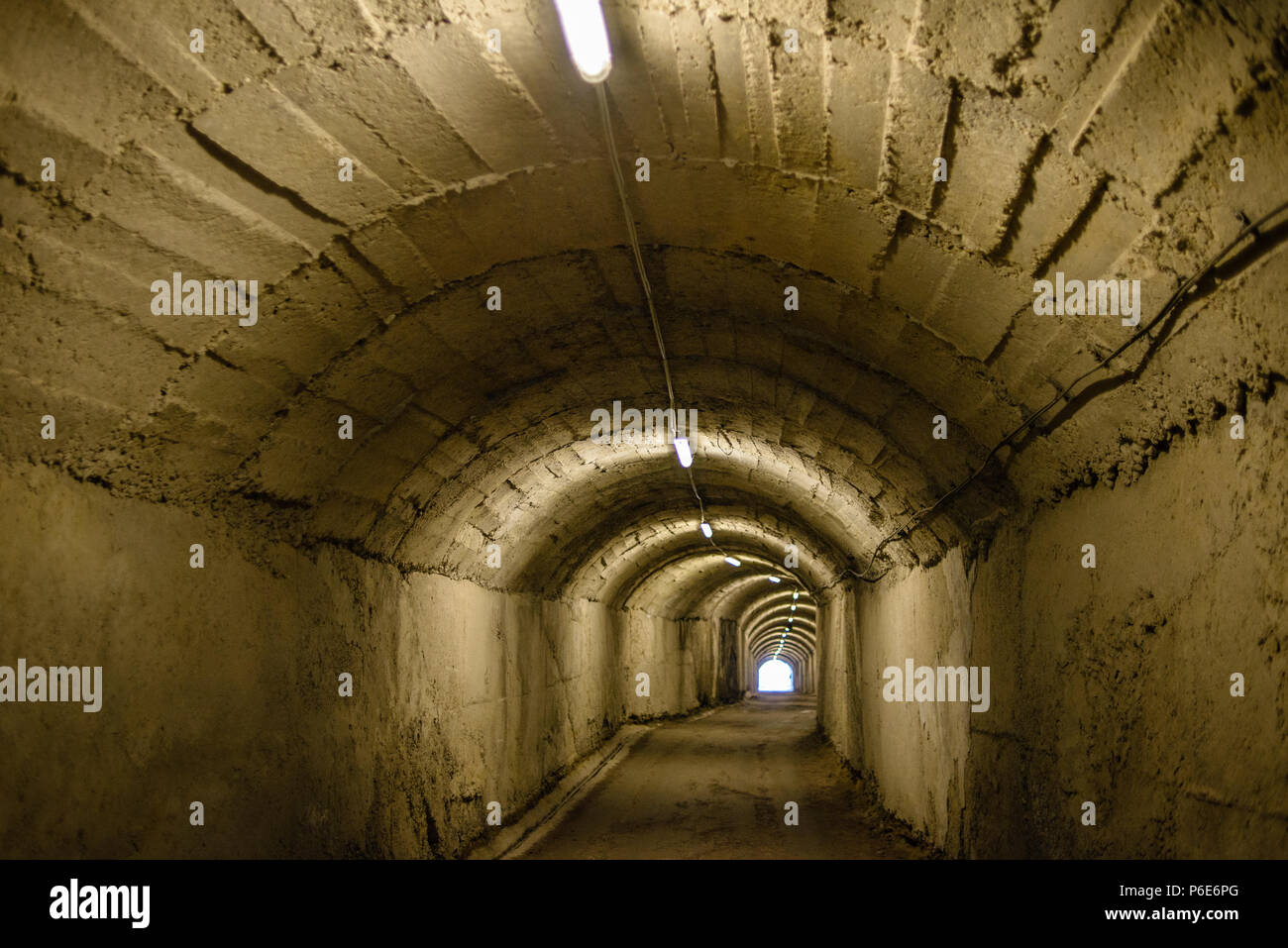 Tunnel to the antinuclear bunker in Tirana, Albania - Stock Image