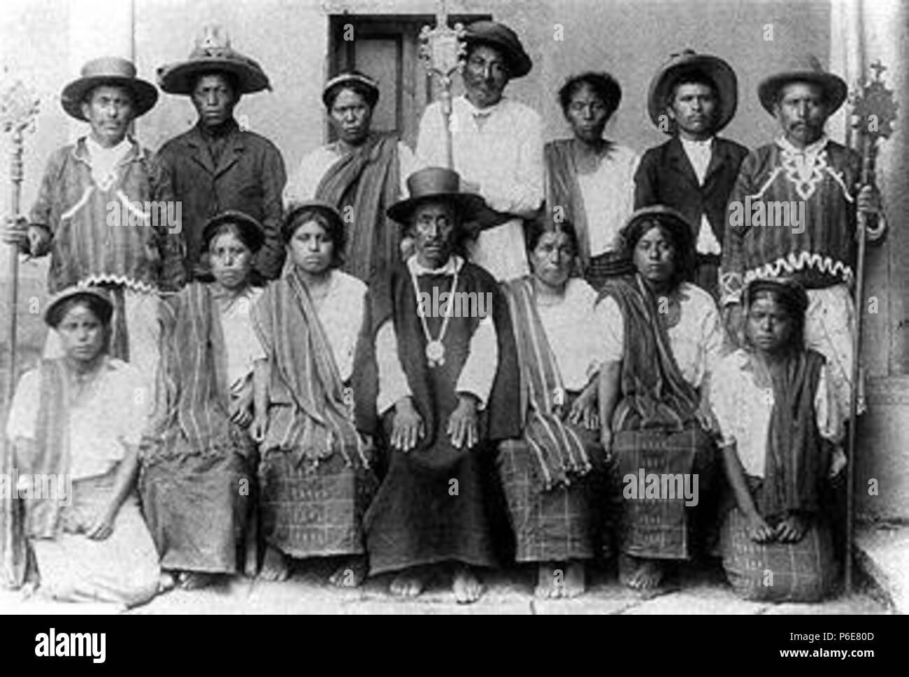 Español: Cofradía de Santiago Atitlán . 1900 73 Santiagoatitlan1900 - Stock Image