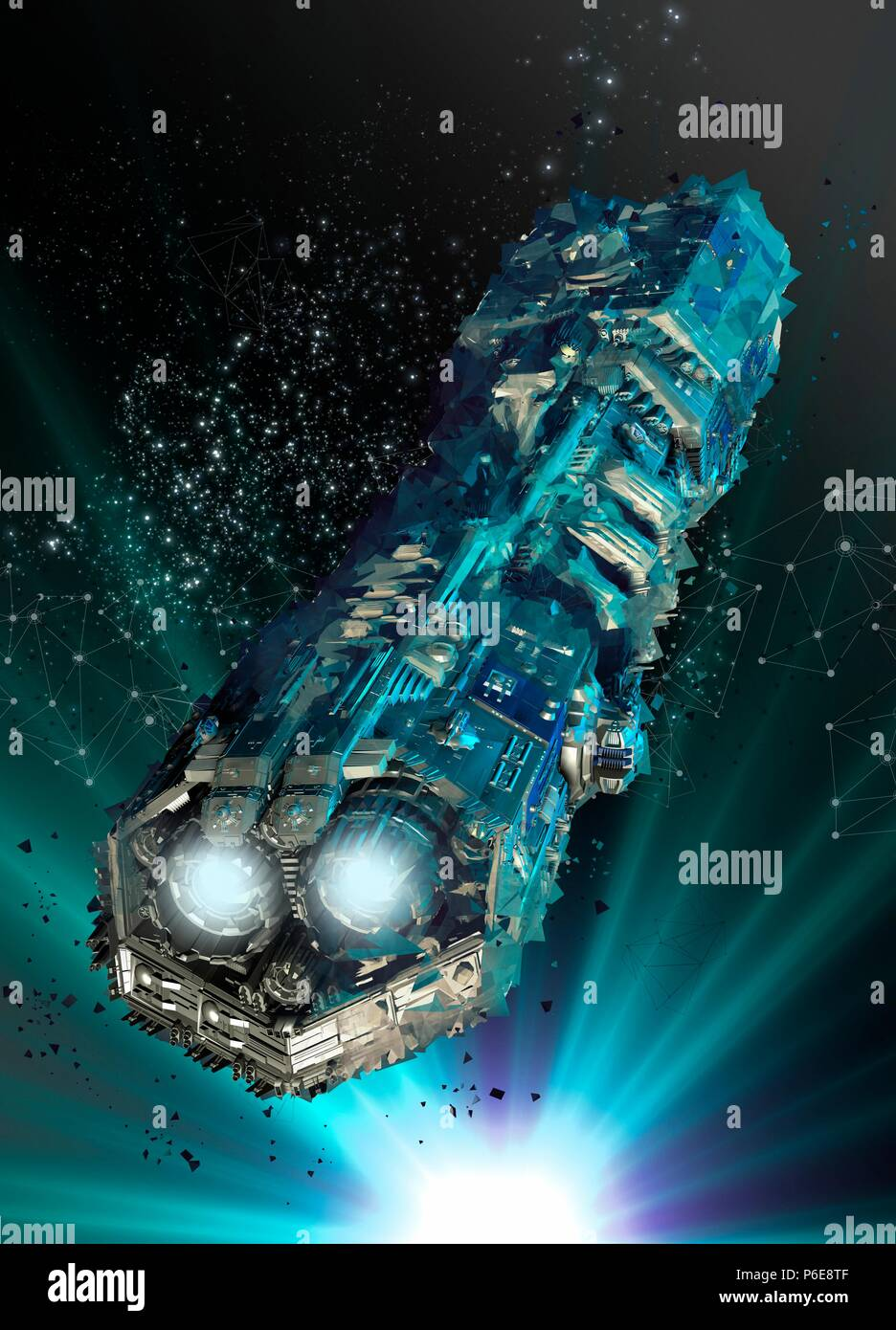 Spacecraft, illustration. - Stock Image