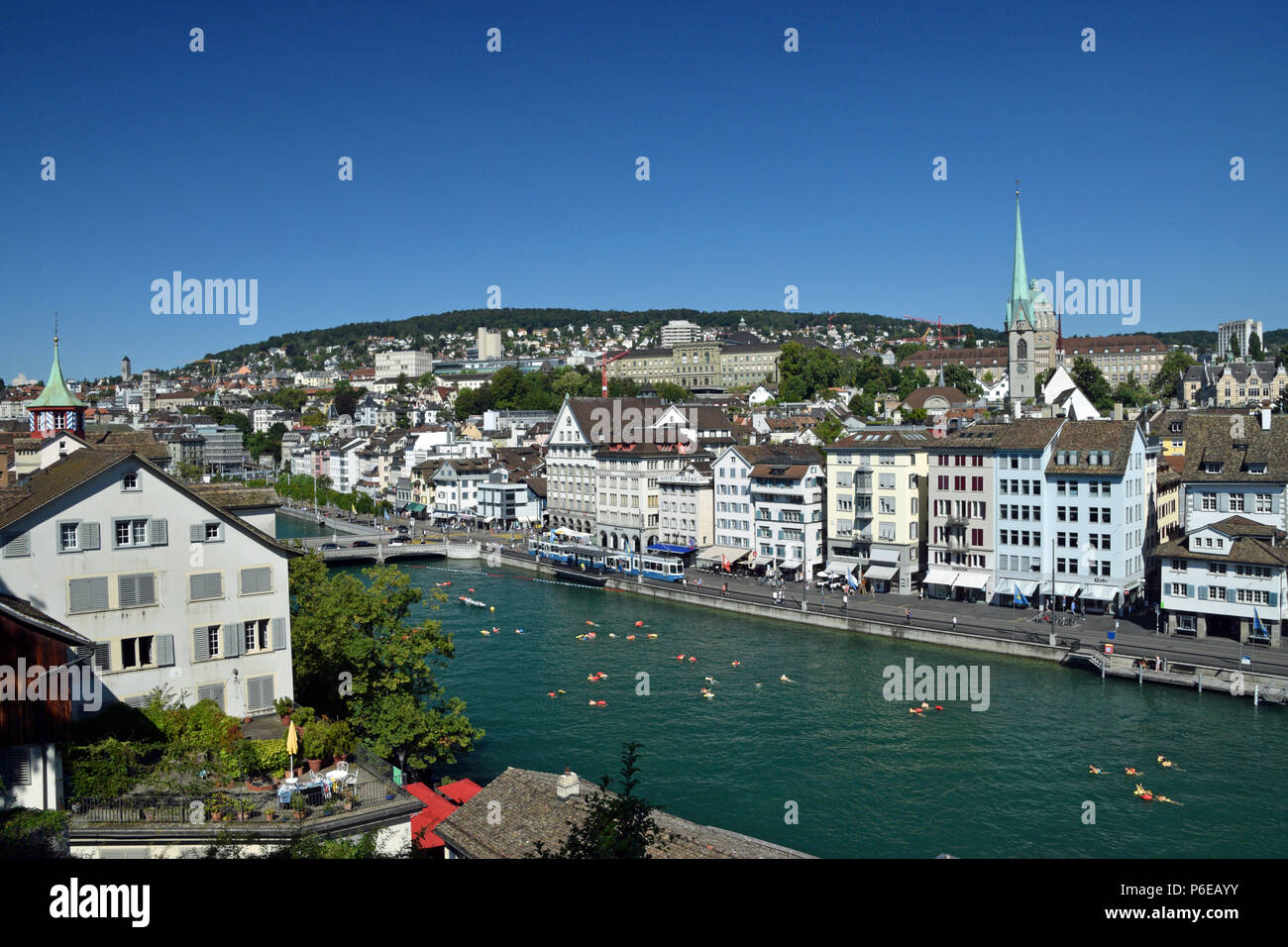 River view of Zurich - Stock Image