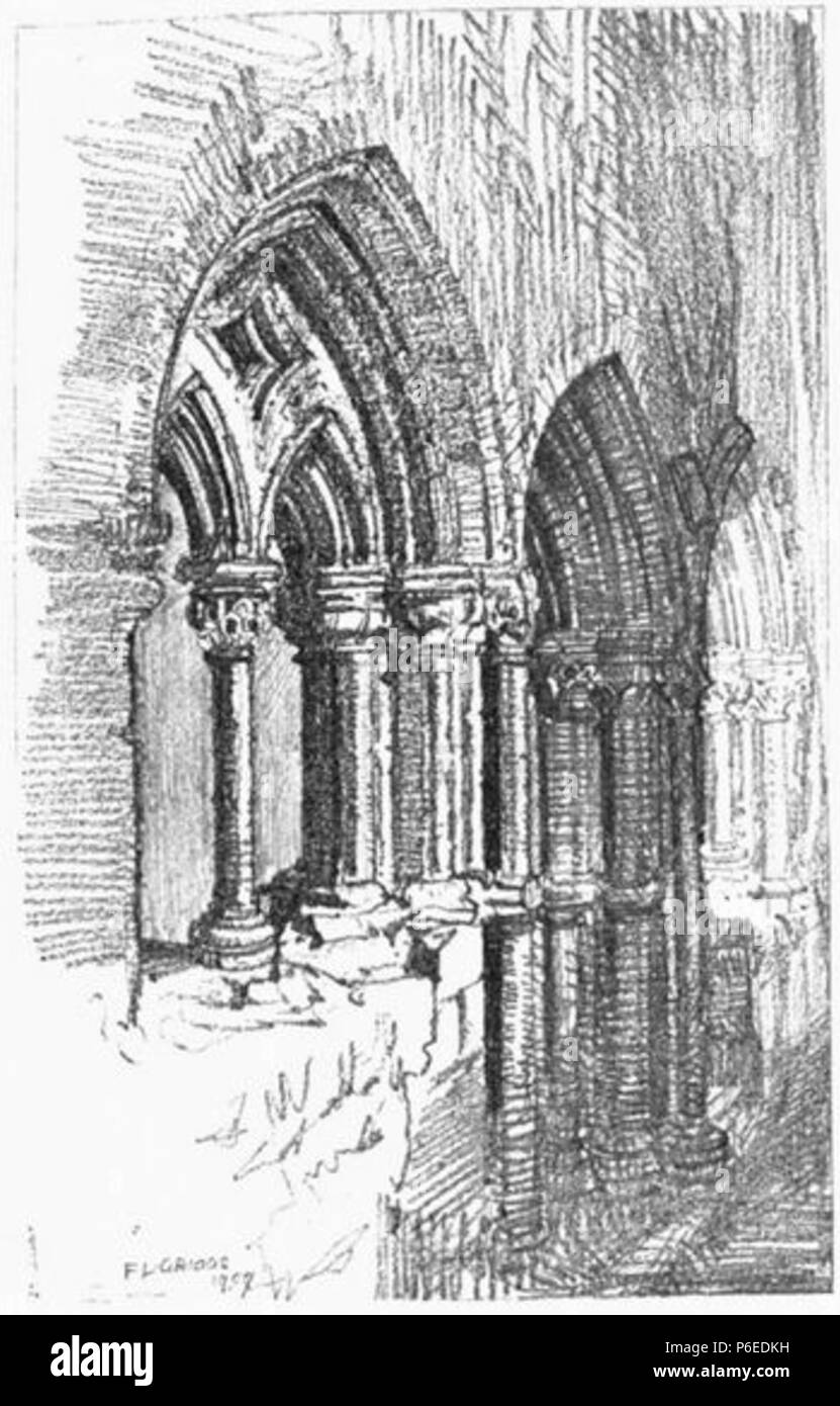 English: Remains of St Radegund's Priory, which became part of Jesus College, Cambridge . 1910 50 Griggs 1910 - Remains of St Radegund's Priory - gutenberg 38735 img032 - Stock Image