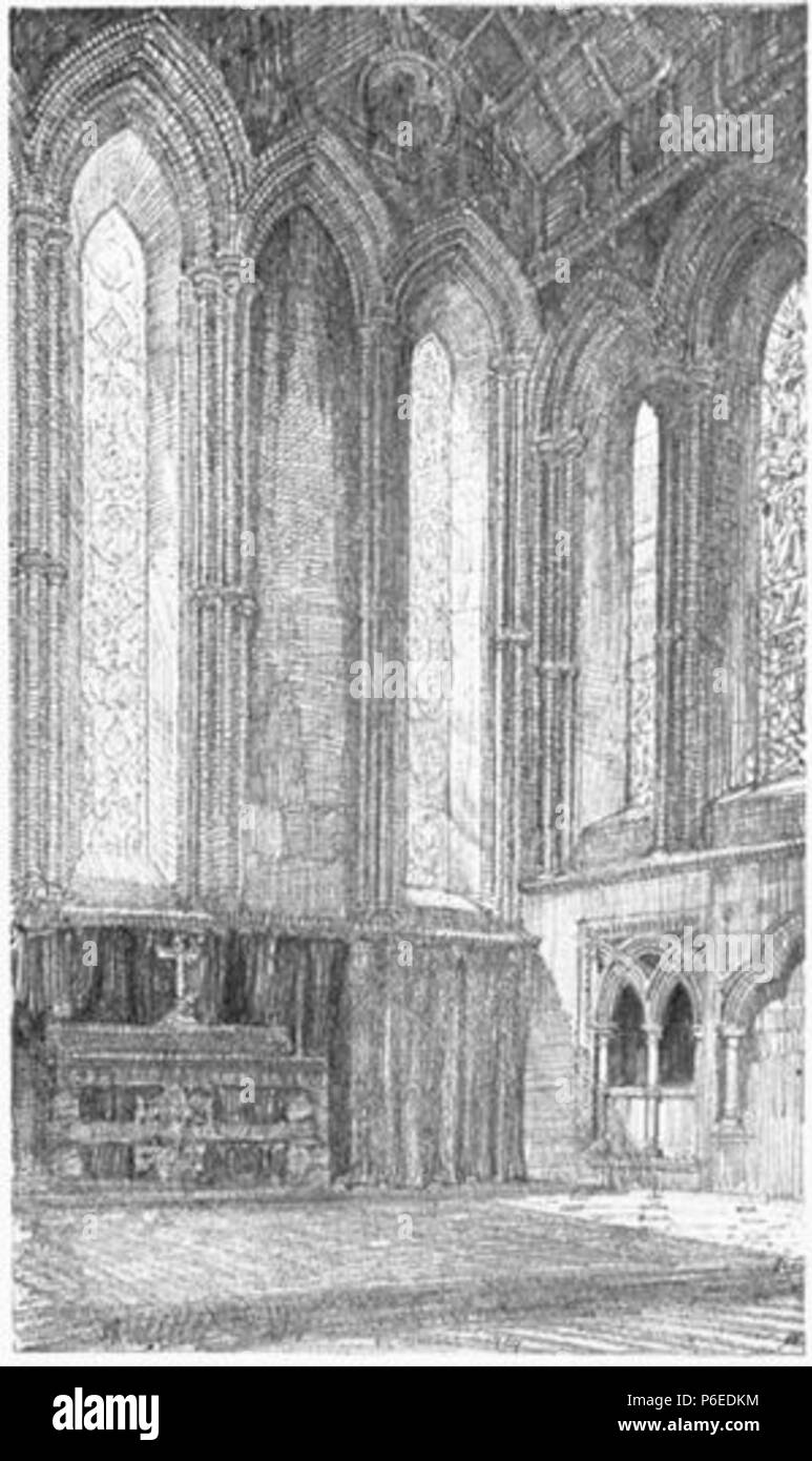 English: The East End of the Chapel of Jesus College, Cambridge . 1910 50 Griggs 1910 - Jesus College Chapel, East End - gutenberg 38735 img035 - Stock Image