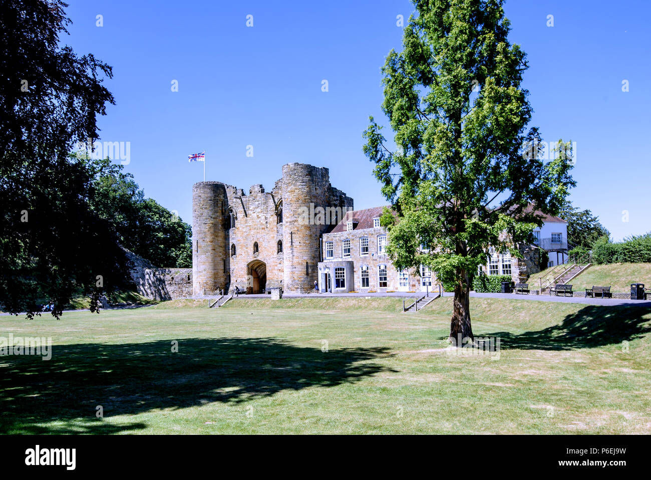 Tonbridge castle Kent - Stock Image
