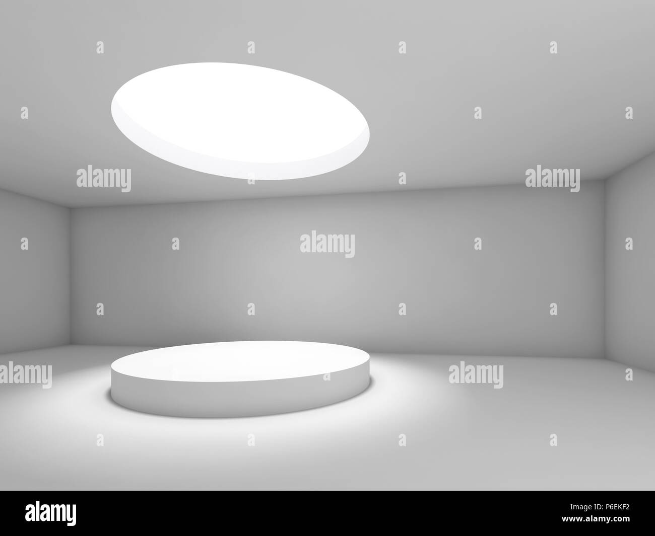 Pleasant Abstract Empty Interior Showroom With Round Ceiling Light Download Free Architecture Designs Scobabritishbridgeorg