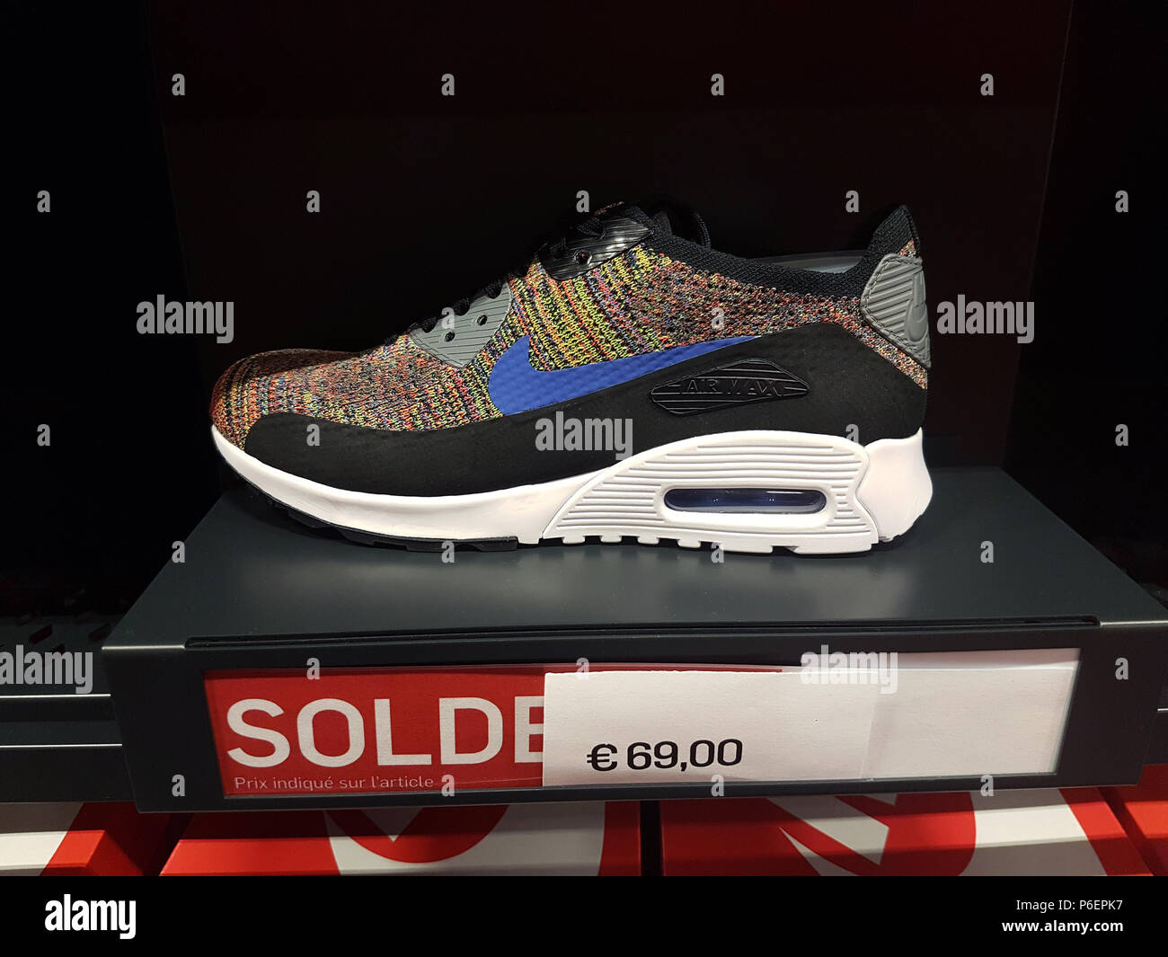 best sneakers e432c a6cbd Villefontaine, France - July 29 2018  Multicolor Nike Air Max Shoe On  Display in