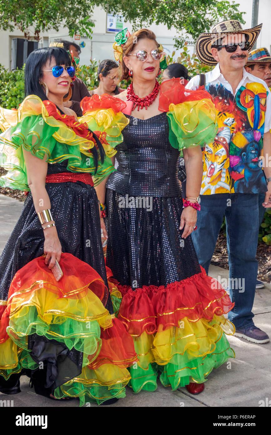 1bcd2309e Miami Florida Coral Gables Hispanic Cultural Festival Latin American event  dancer performer Colombian typical costume Baile del Garabato Barranquilla