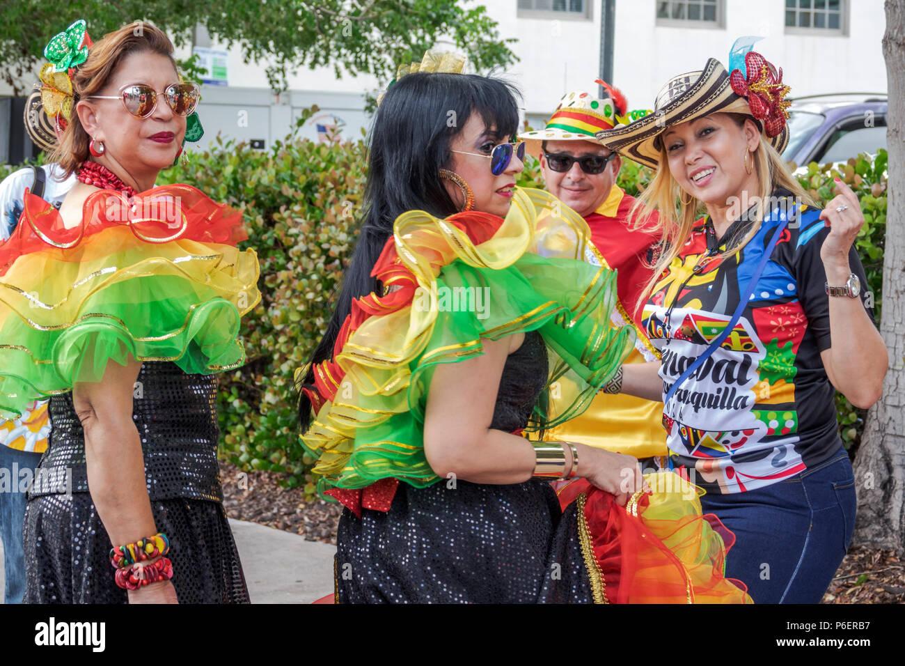 c1f46e48d Miami Florida Coral Gables Hispanic Cultural Festival Latin American event  dancer performer Colombian typical costume Baile
