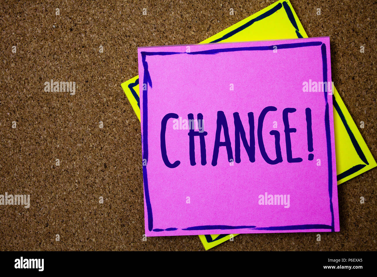 Conceptual hand writing showing Change Call. Business photo text Alteration Adjustment Diversion Revision Transition Modification Wicker background me - Stock Image