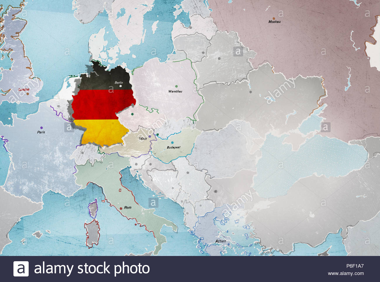 Series Map Europe Middle East Stock Photo 210542703 Alamy