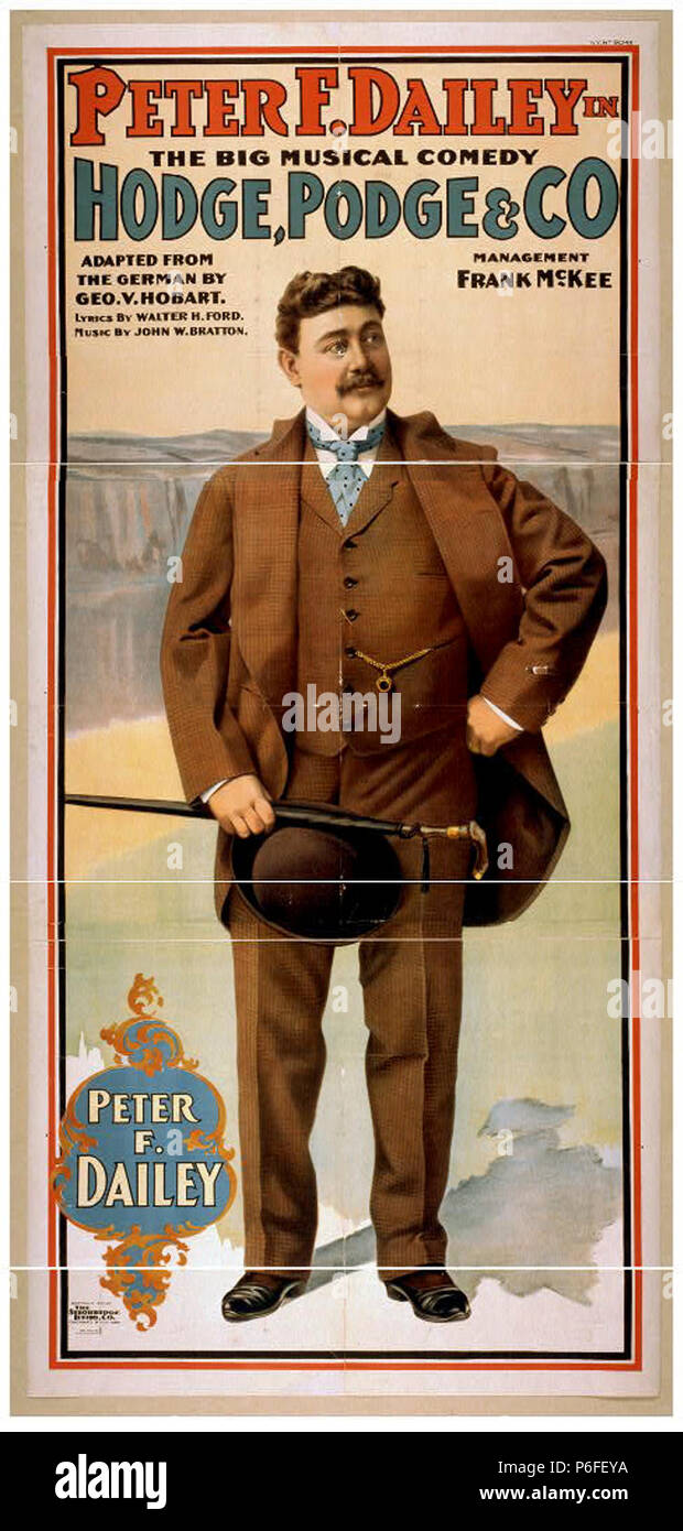 1900 PeterFDailey HodgePodge LibraryOfCongress. - Stock Image