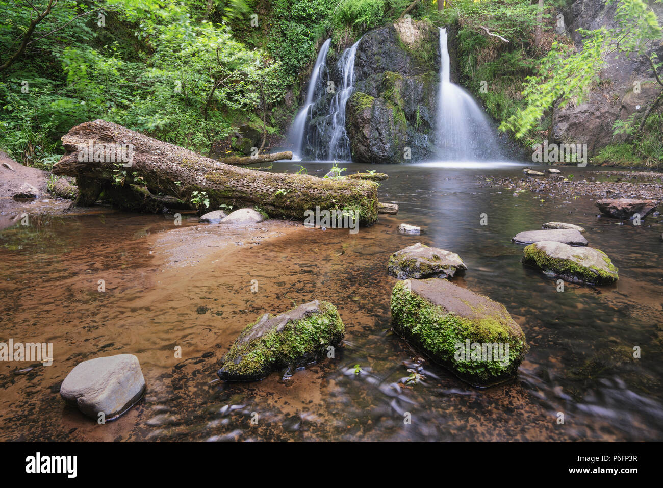 Fairy glen falls at Rosemarkie in Scotland along the North coast 500 route - Stock Image