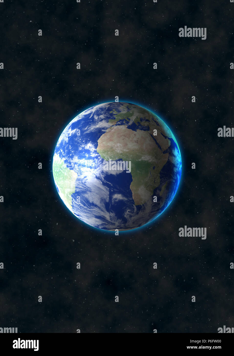 Beautiful View Of Earth Digital Art Wallpaper Blue Planet In Space