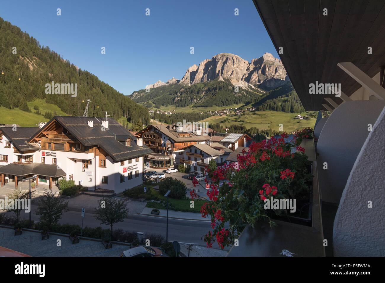 Posta Zirm Hotel Corvara in Badia South Tyrol Trentino Alto Adige Italy - Stock Image