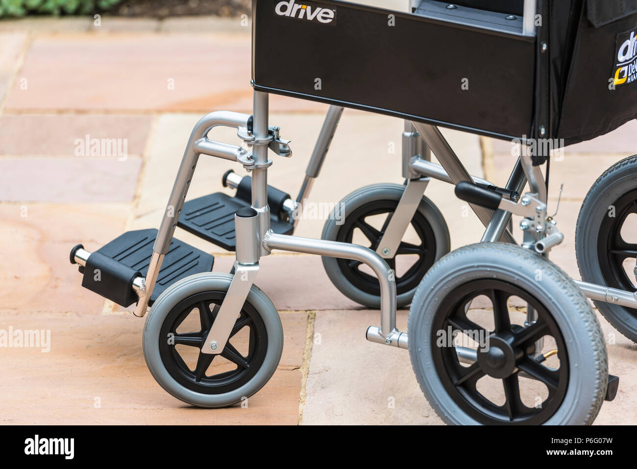 Disability, mobility, invalid wheelchair. Stock Photo