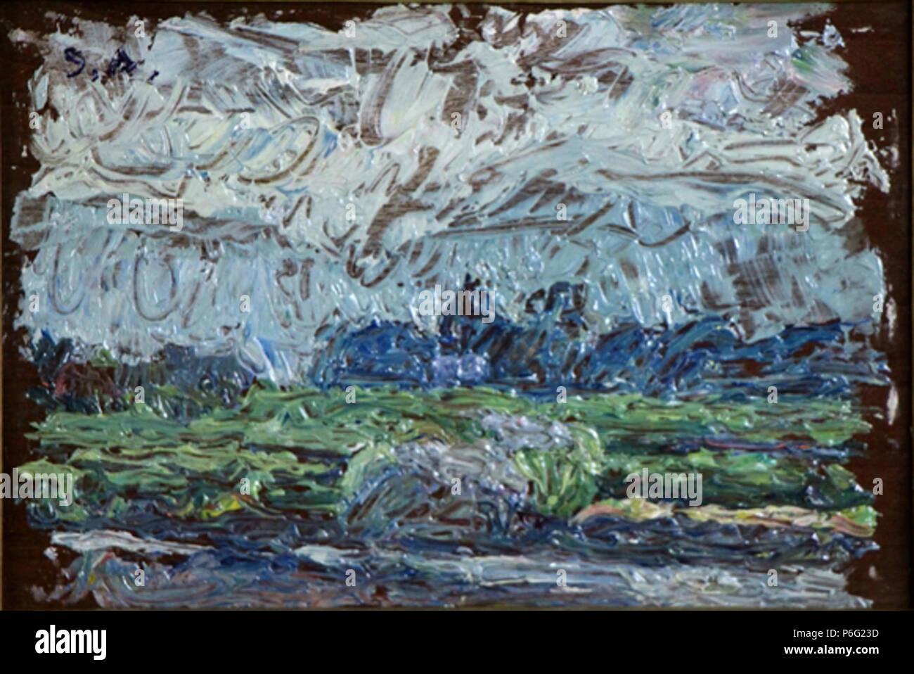English: A Cloudy Day, by Aoki Shigeru, Ten-ichi Museum, Minakami ...