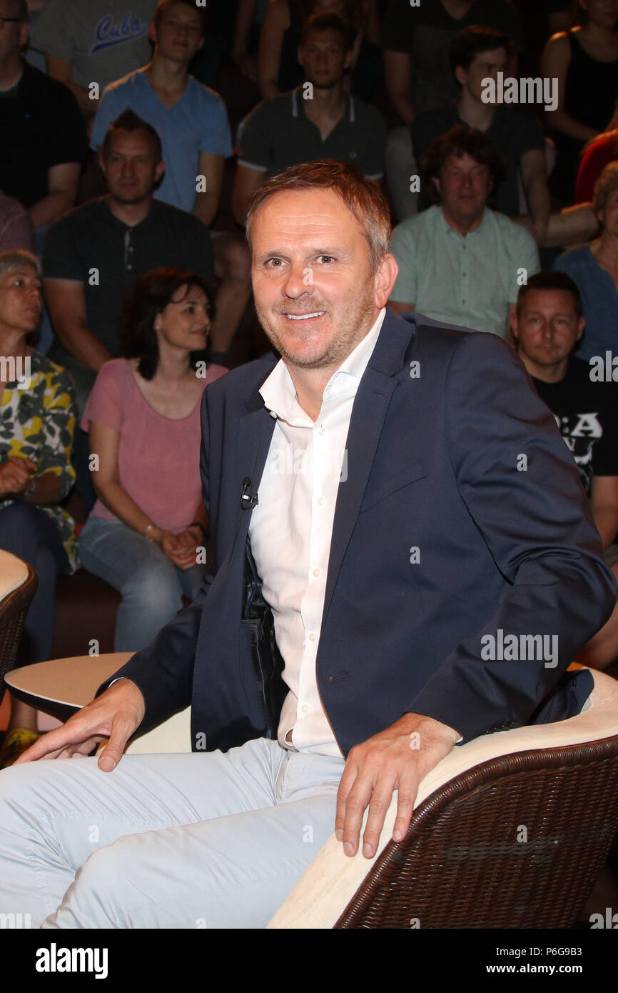 Celebrity guests are having conversations at Markus Lanz Talkshow in Hamburg.  Featuring: Dietmar Hamann (Ex-Fussballprofi) Where: Hamburg, Germany When: 29 May 2018 Credit: Becher/WENN.com - Stock Image