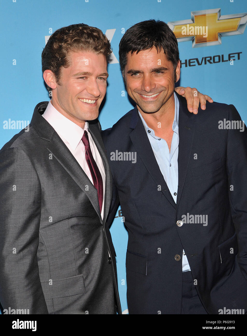 Matthew Morrison and John Stamos Glee Premiere and DVD