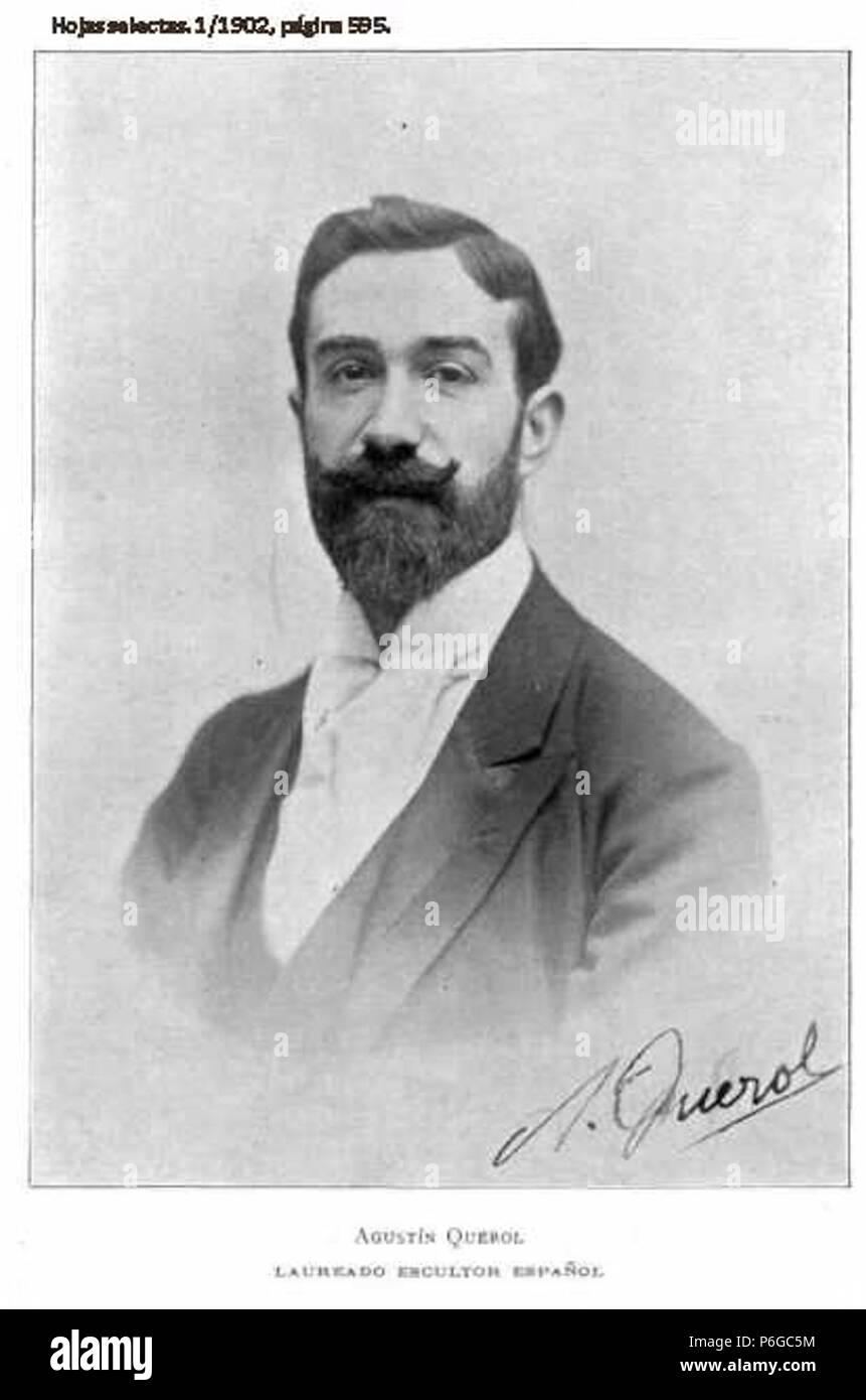 1902-Agustin-Querol-escultor. - Stock Image