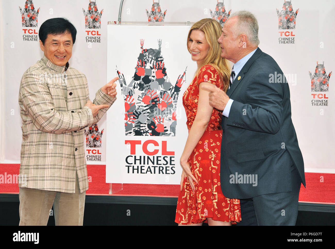 Jackie Chan Honored with hand and Footprint at the TCL