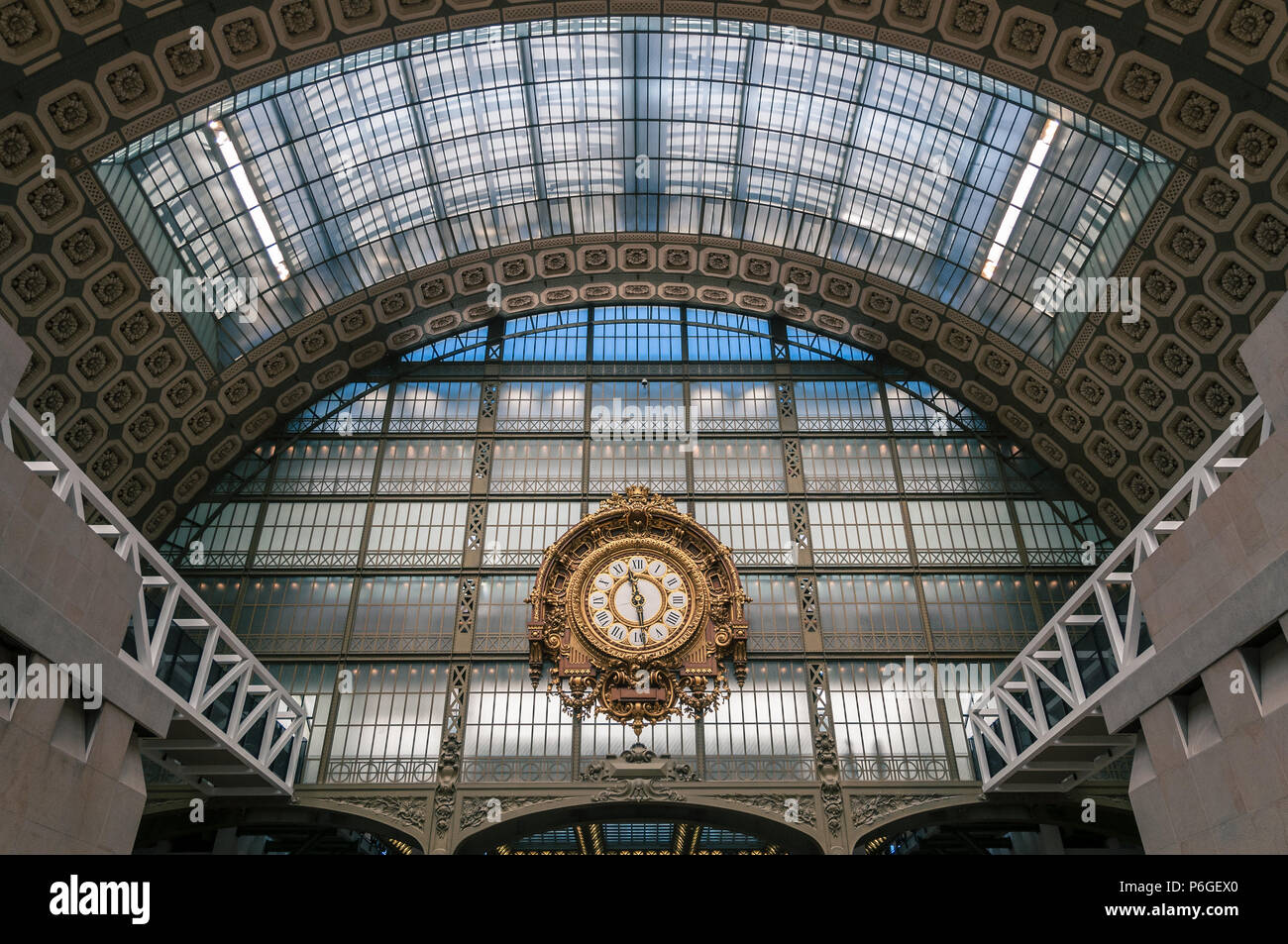 Clock from Musée d'Orsay - Stock Image