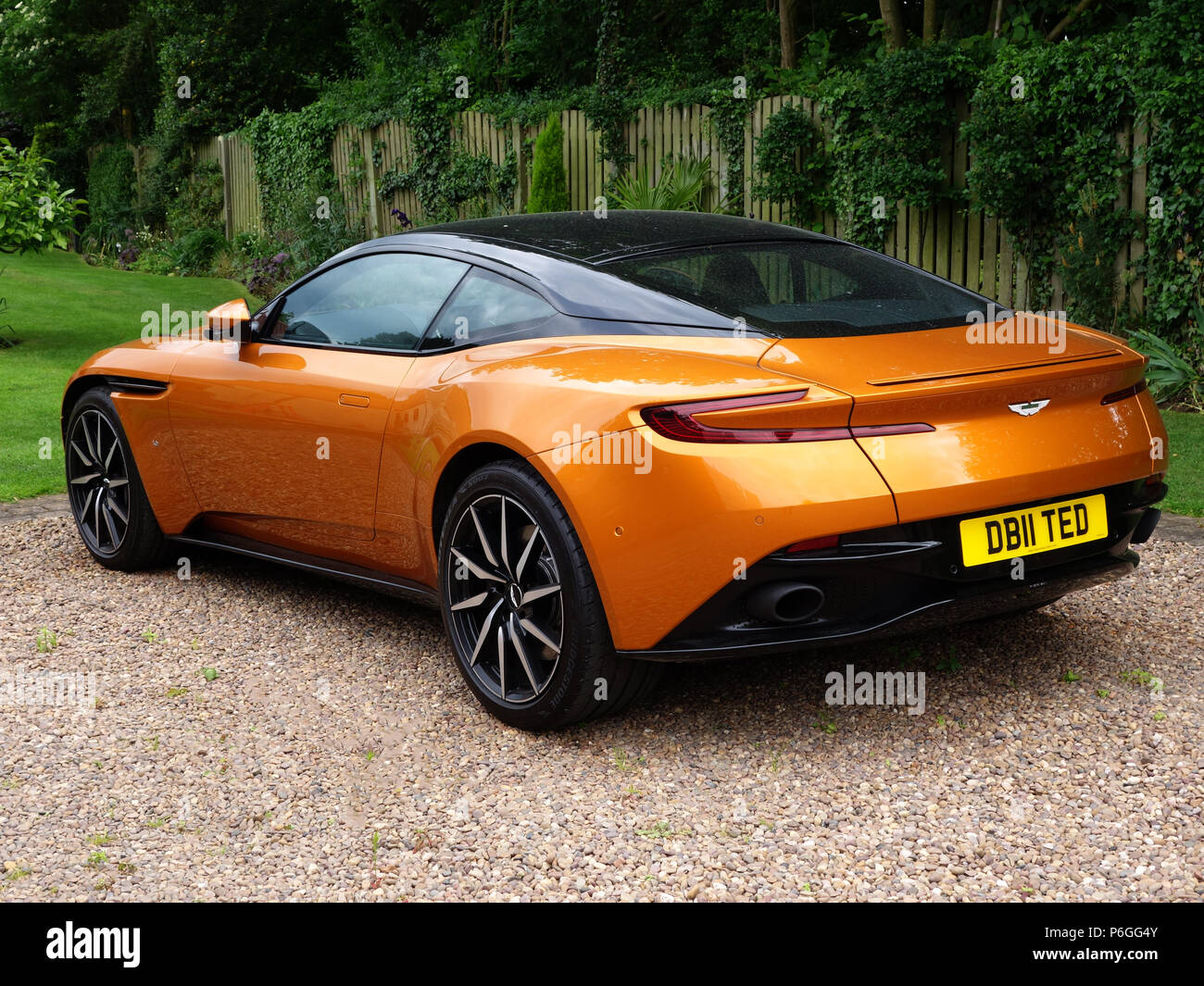 Aston Martin Db11 At A Private Home In South Yorkshire The Aston Martin Db11 Sports Car Is A British Grand Tourer Stock Photo Alamy