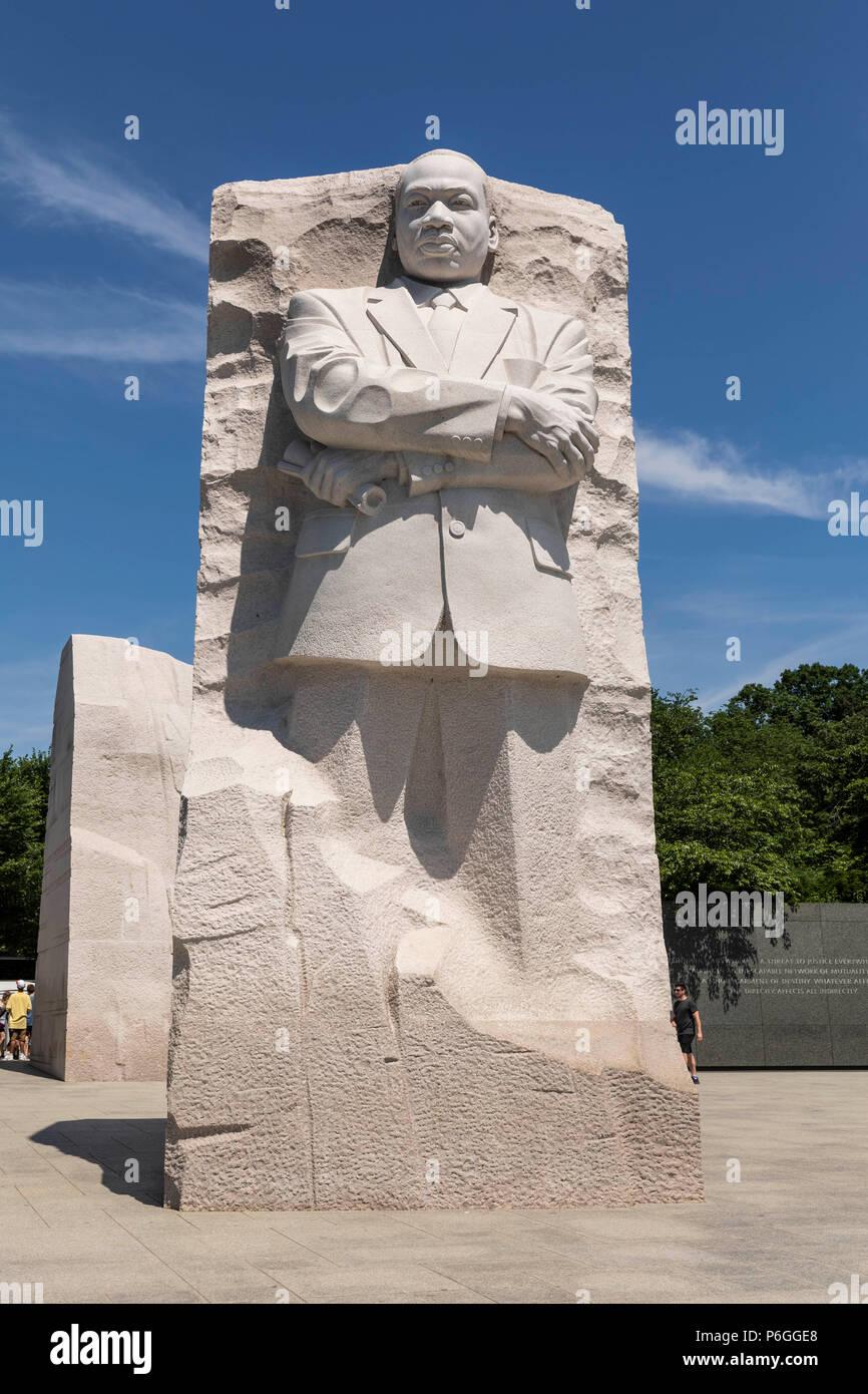 Martin Luther King Jr Memorial Washington Dc Usa Stock Photo