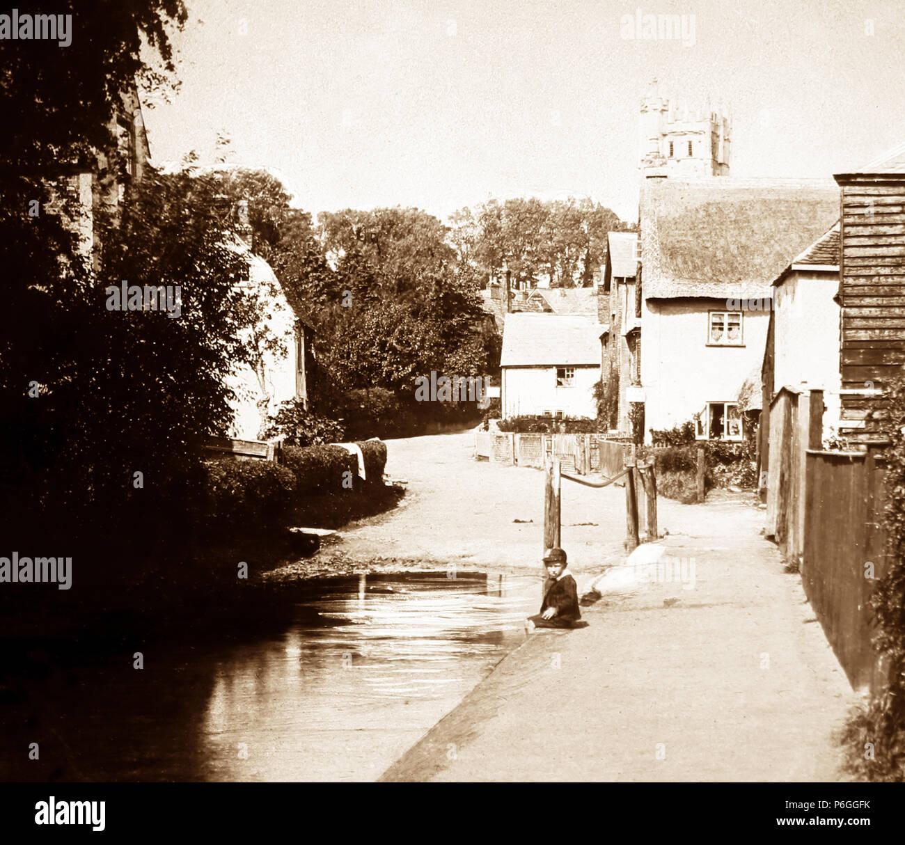 Carisbrooke, Isle of Wight, Victorian period Stock Photo