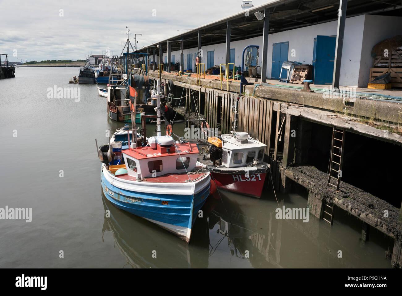The Fishing Quay at North Shields, Tyneside, UK - Stock Image