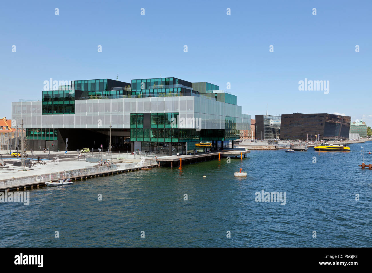 The BLOX building, a new prestige building for architecture and design on Christians Brygge in Copenhagen. Also housing the Danish Architecture CentreStock Photo