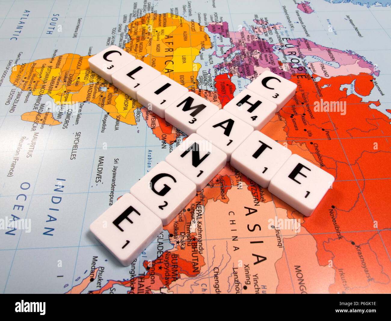representation of climate change, the average global temperature has