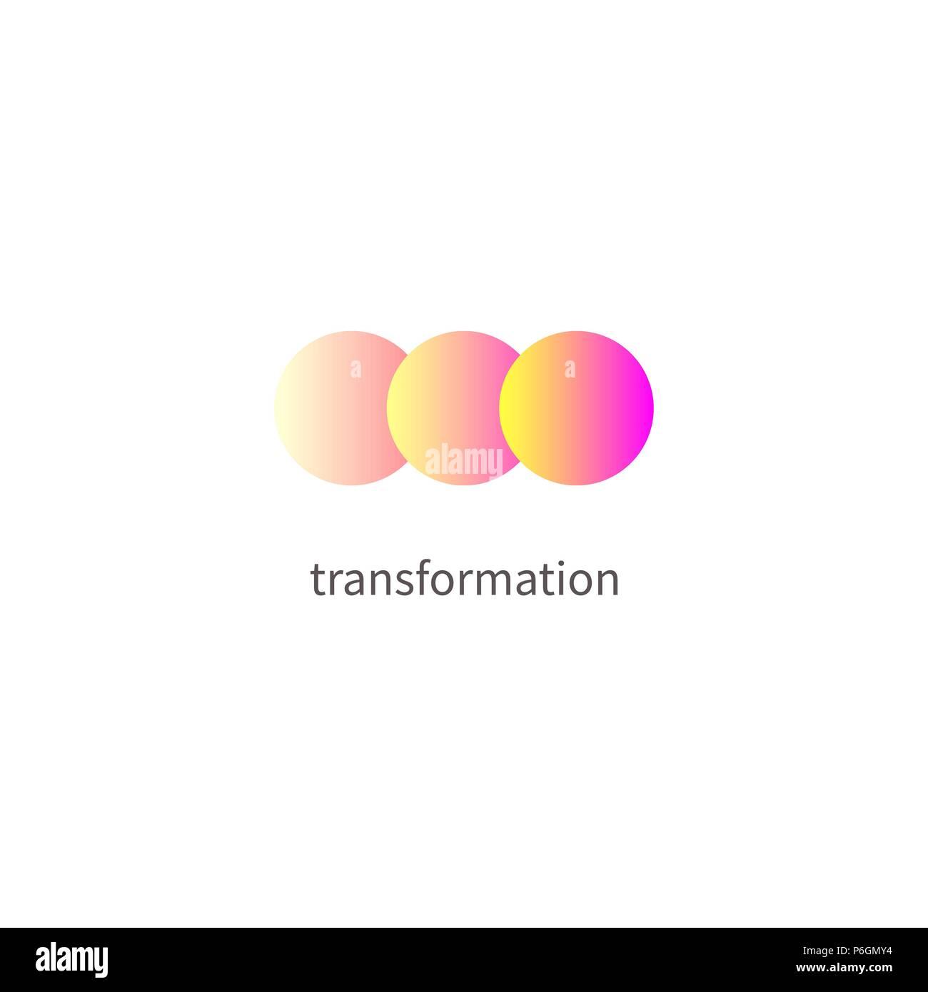Logo change, transformation  Business icon, innovation, development