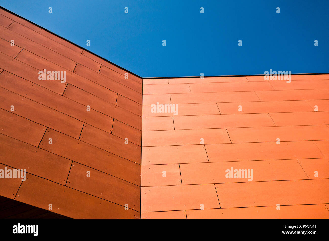 abstract architectural detail of a modern building Stock Photo