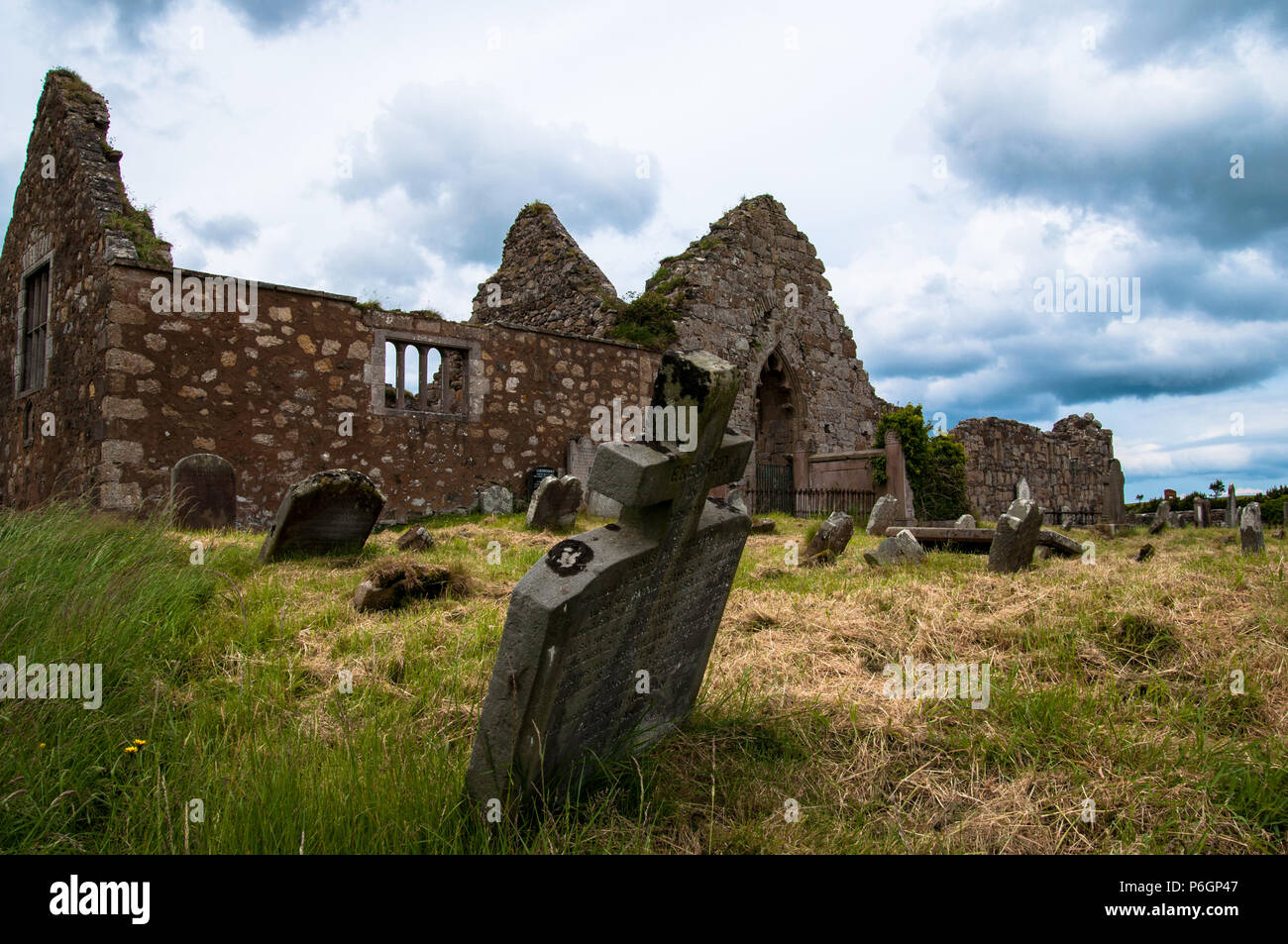 Bonamargy Friary Ballycastle County Antrim Northern Ireland - Stock Image