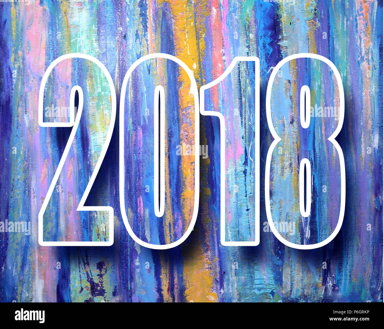 2018 new year banner happy new year 2018 decoration poster card vintage abstract colorful poster