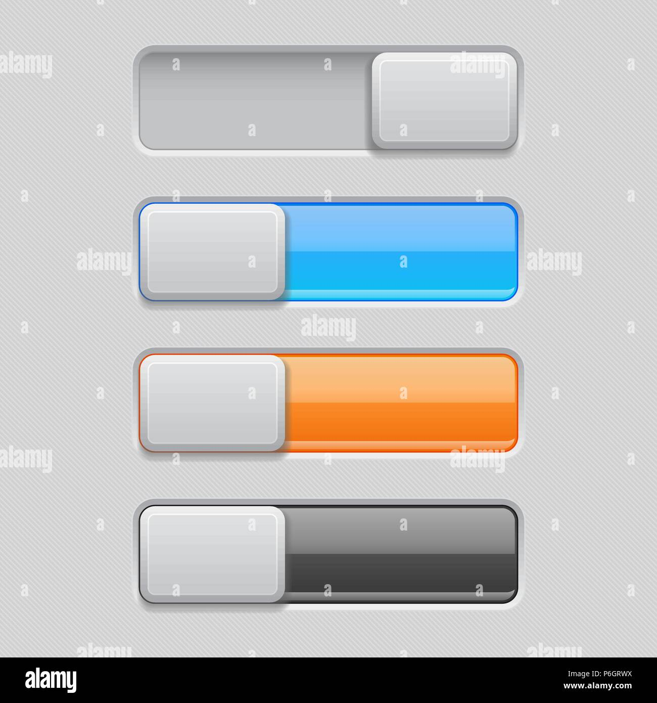 On and Off toggle switch buttons. Colored 3d icons Stock Vector Art ...