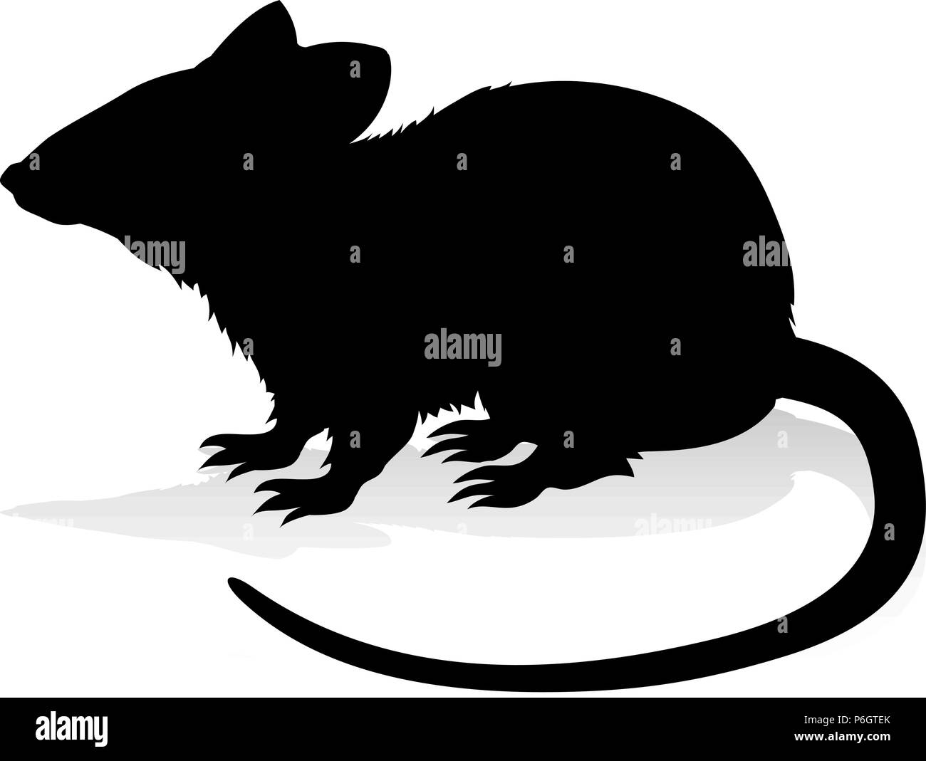 Rat Rodent Animal Silhouette - Stock Vector