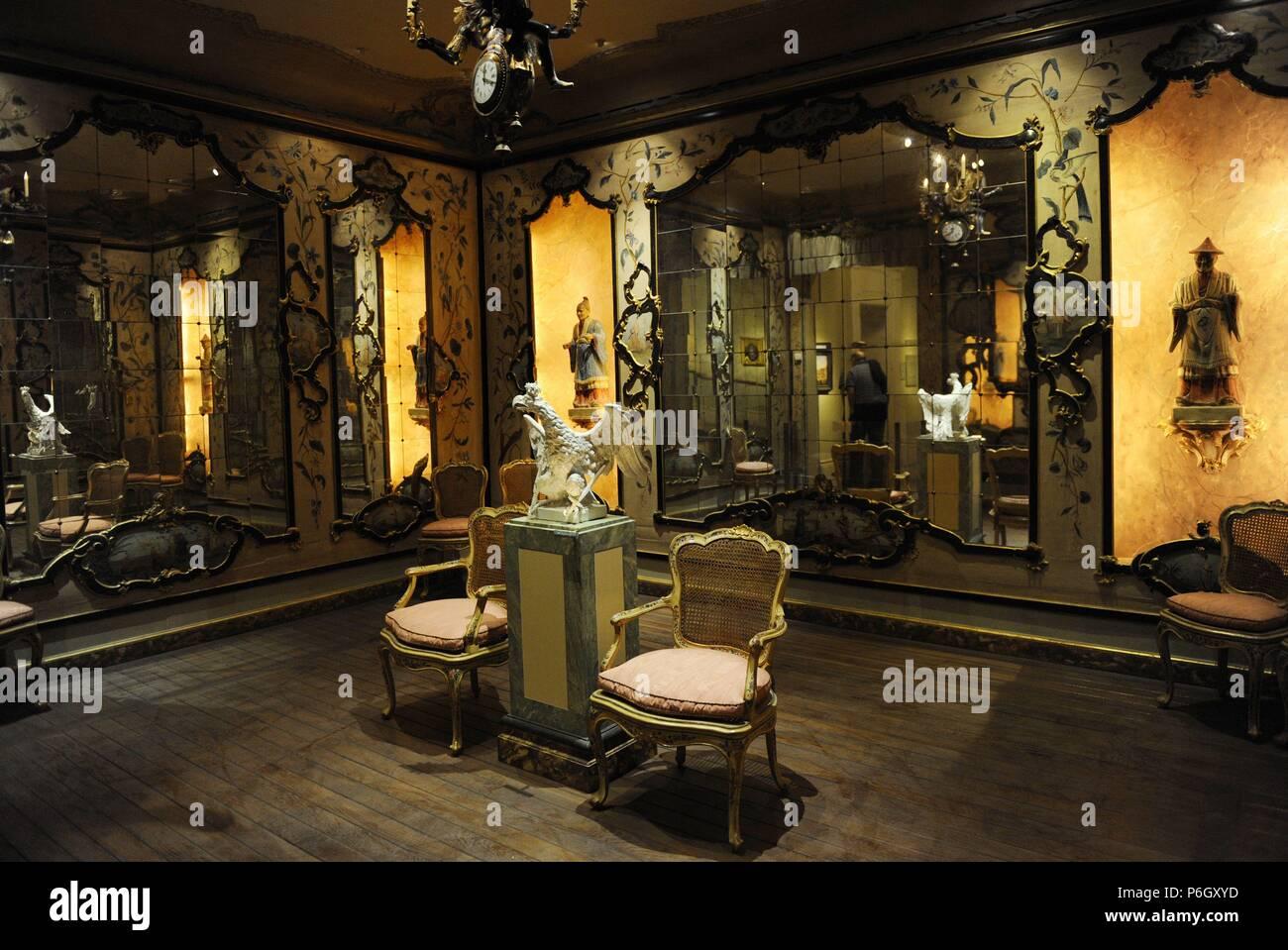 Interior. Eighteenth Century Venetian Room. Decoration And Furniture.  Jerusalem.