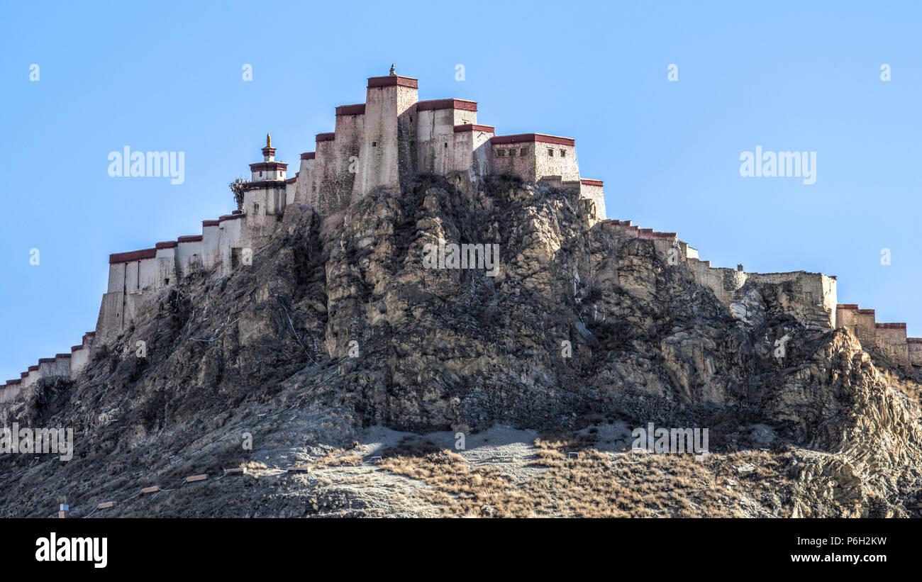 Gyantse Dzong, Gyantse, Tibet Stock Photo