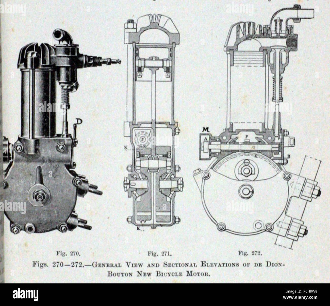 1906 De Dion Bouton Bicycle Engine Stock Photo 210592516 Alamy Bike Diagram