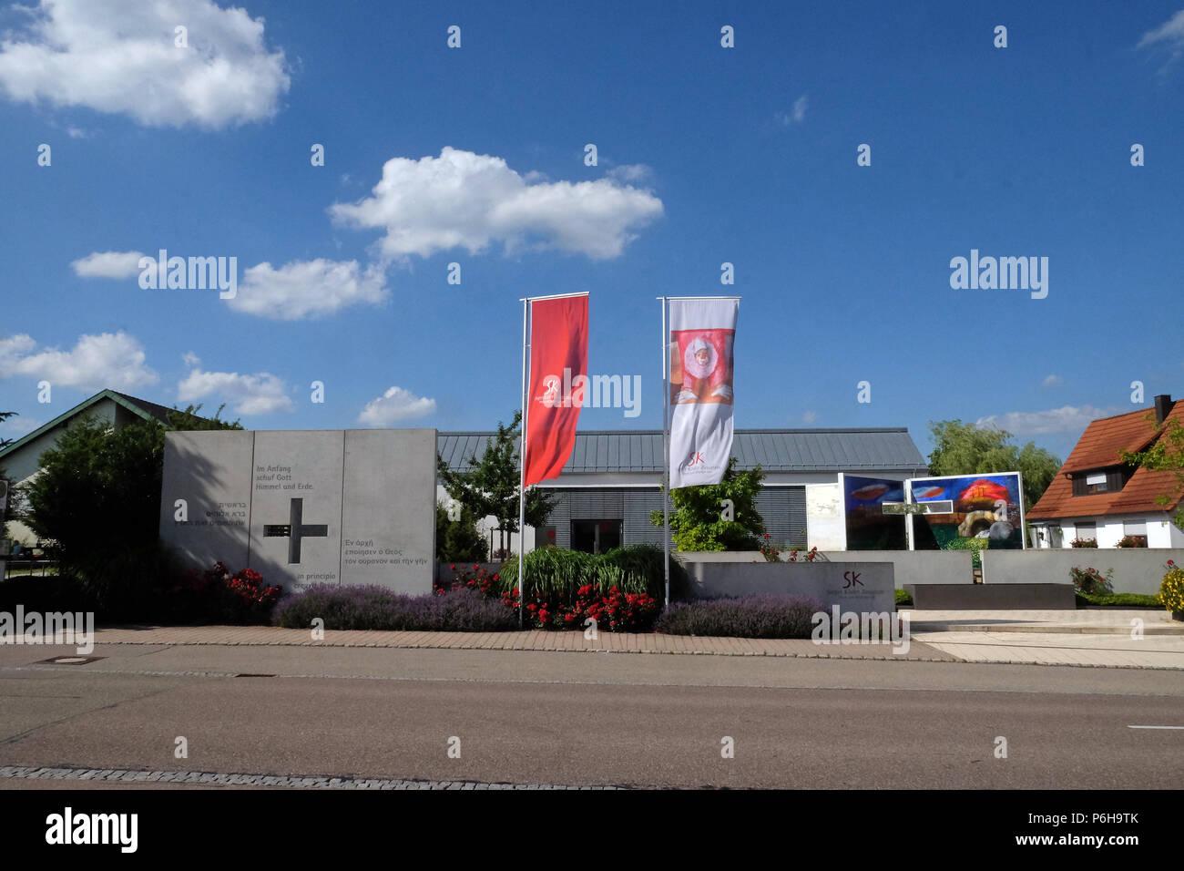 Sieger Koder Center and Biblegarden in Rosenberg, Germany - Stock Image
