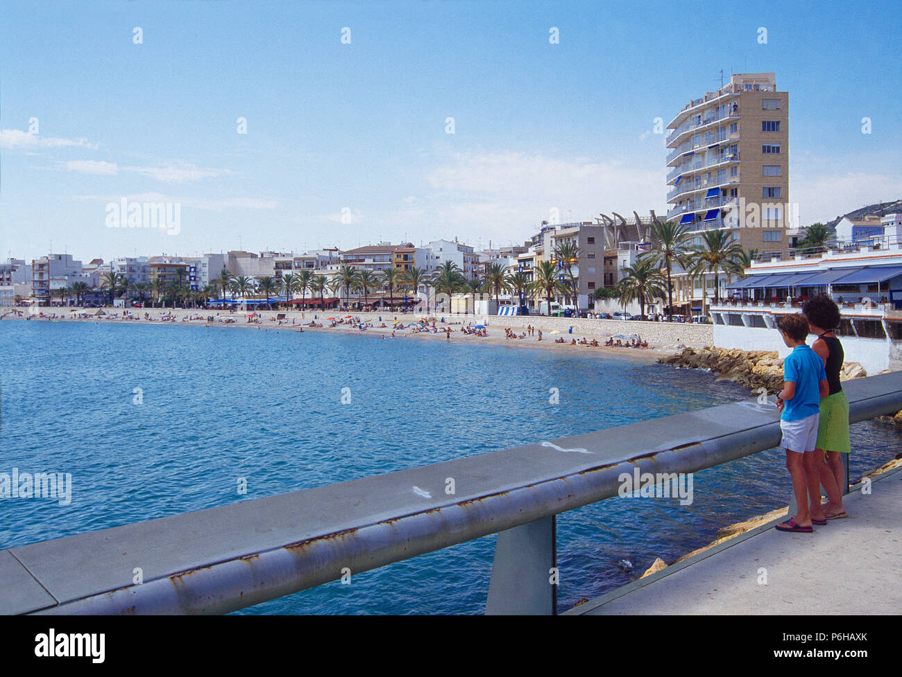 Viewpoint over the sea. Javea, Alicante province, Comunidad Valenciana, Spain. - Stock Image