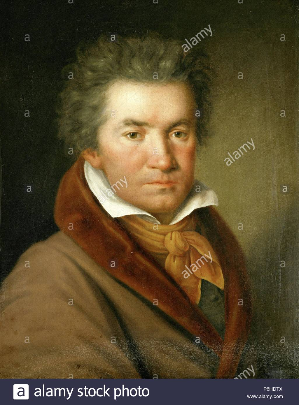 Portrait of Ludwig van Beethoven (1770 - 1827) German composer and pianist., Artist unknown. Museum: Society Friends of Music. - Stock Image