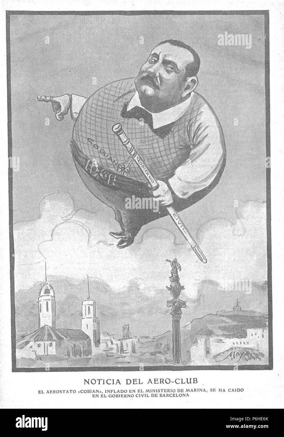 1906-07-01, Gedeón, Noticia del aero-club, Moya. - Stock Image