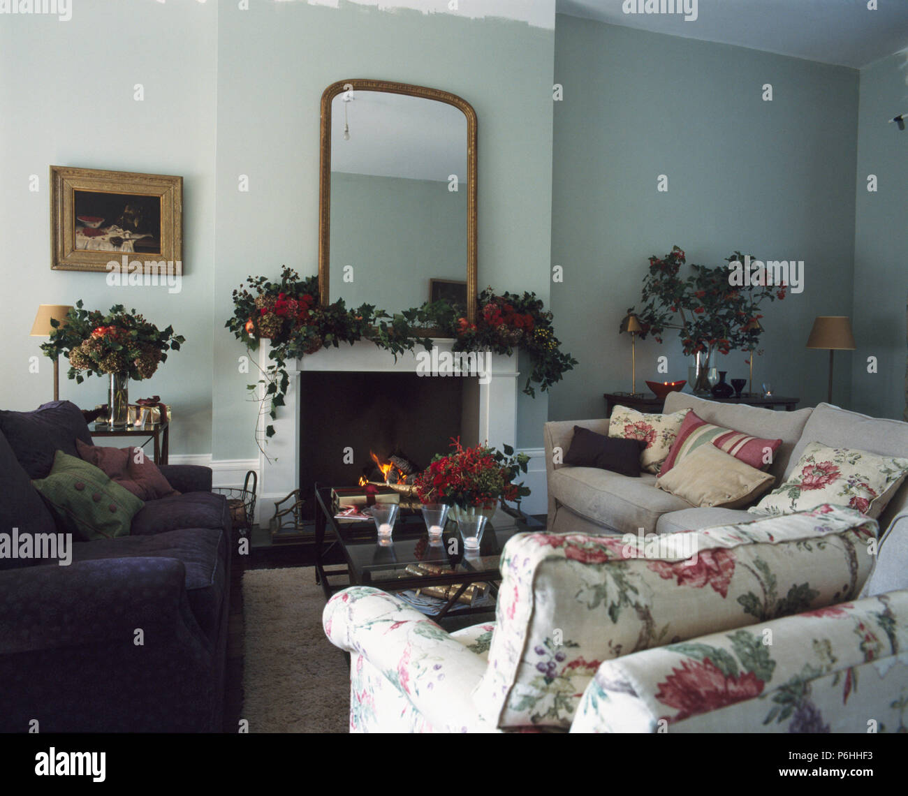Living Room Uk Christmas Stock Photos & Living Room Uk