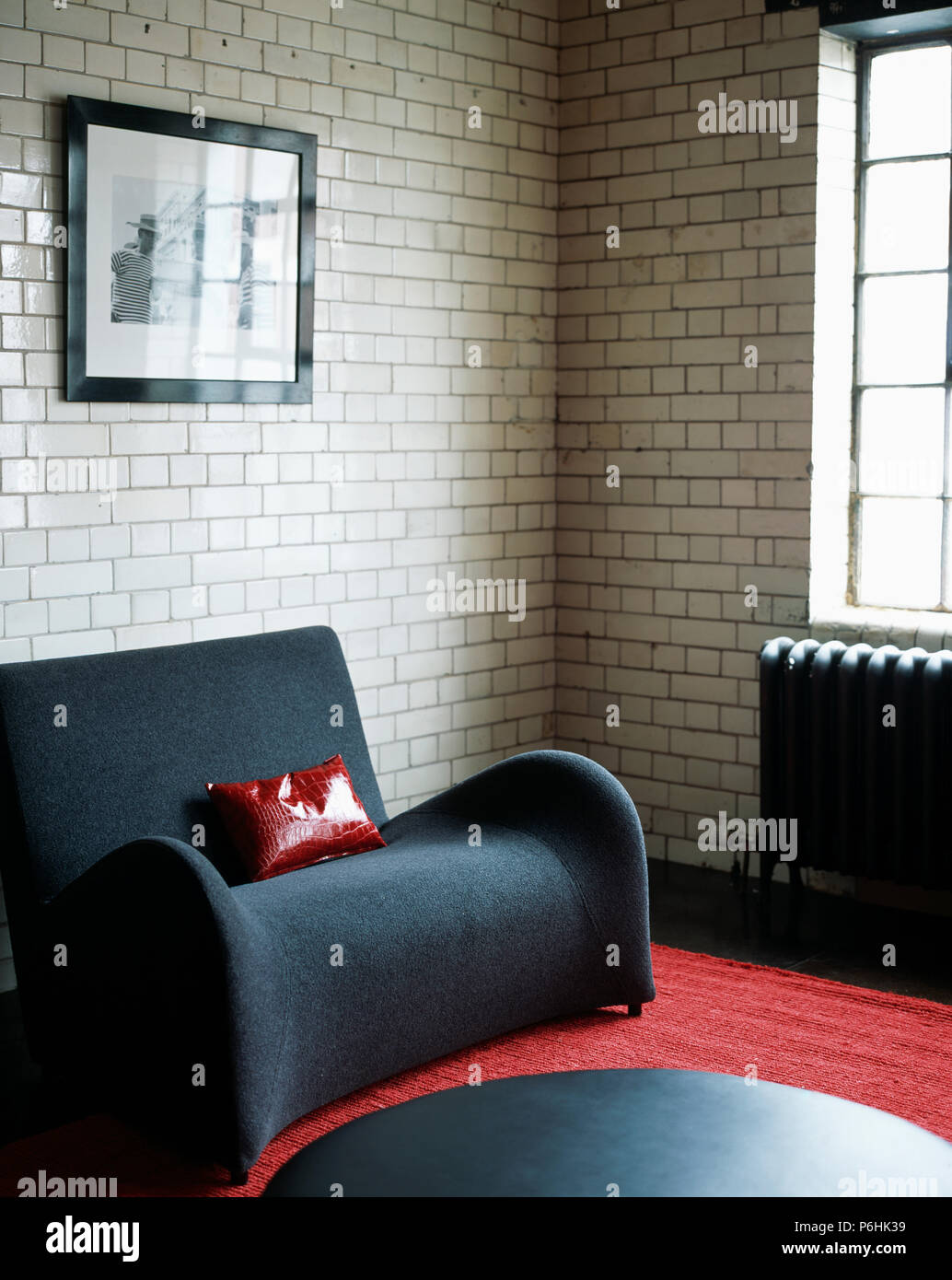 Remarkable Small Charcoal Grey Sofa With Red Leather Cushion In Loft Cjindustries Chair Design For Home Cjindustriesco