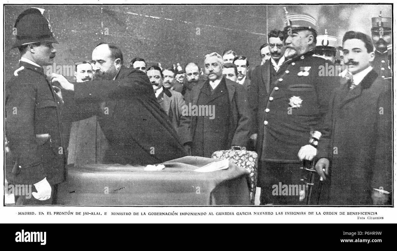 1908 04 16 Actualidades Madrid En El Frontn De Jai
